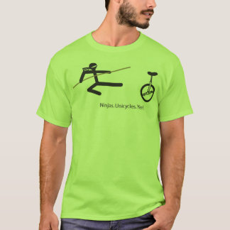 """Ninjas. Unicycles. Yeah."" Shirt in Lime."