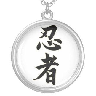 Ninjutsu Silver Plated Necklace