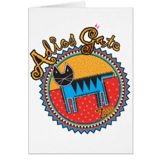 Niños Adios Gato Greeting Card