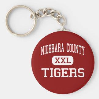 Niobrara County - Tigers - High - Lusk Wyoming Key Ring
