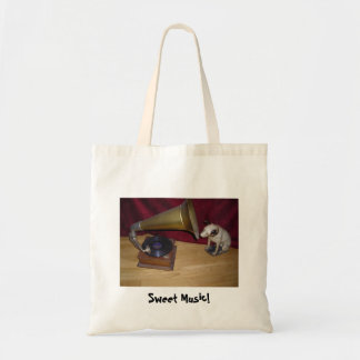 Nipper - His Master's Voice - Sweet Music Canvas Bag