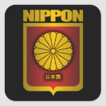"""""""Nippon Gold"""" Square Stickers"""