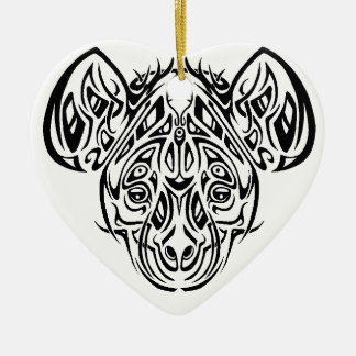 Nire's Hyena Tribal Design Christmas Ornament