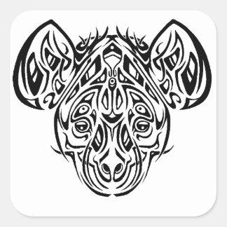 Nire's Hyena Tribal Design Square Sticker