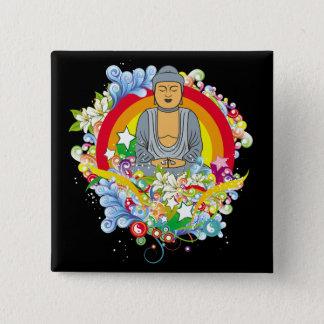 Nirvana Buddha 15 Cm Square Badge