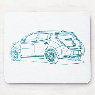 Nis Leaf EV6 2010 Mouse Mat