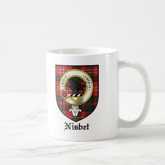 Nisbet Clan Crest Badge Tartan Basic White Mug