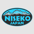 Niseko Japan blue oval stickers
