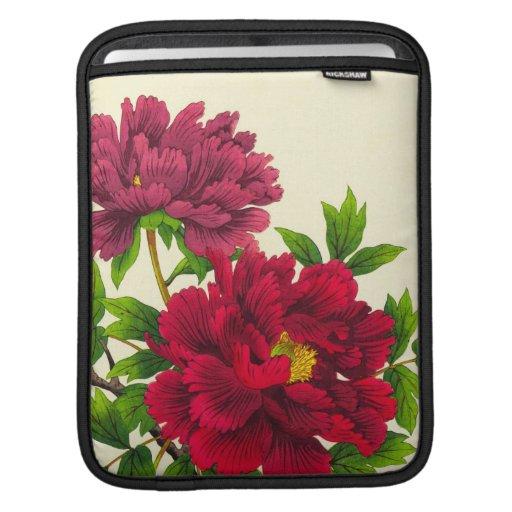 Nishimura Hodo Peony japanese flowers fine art iPad Sleeves
