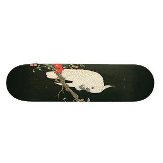 Nishimura White Cockatoo Asian Art Print Skateboar 21.6 Cm Skateboard Deck
