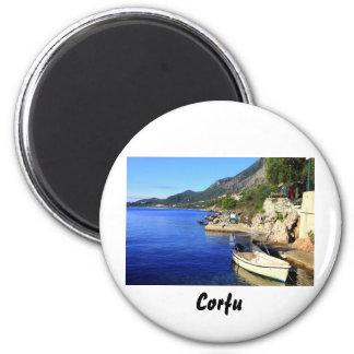 Nissaki, Corfu 6 Cm Round Magnet