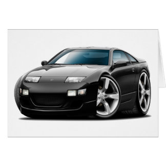 Nissan 300ZX Black Car Card