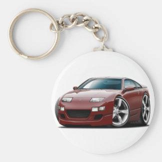 Nissan 300ZX Maroon Car Key Ring