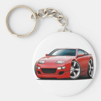 Nissan 300ZX Red Car Keychain