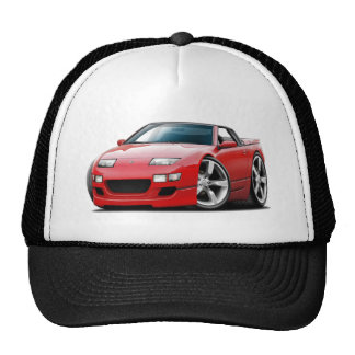 Nissan 300ZX Red Convertible Mesh Hats