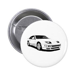 Nissan 300ZX Twin Turbo 6 Cm Round Badge