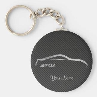 Nissan 350Z Brushstroke Logo w/ Faux Carbon Fiber Key Ring