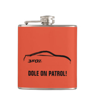 Nissan 350Z on Tango Orange Hip Flask