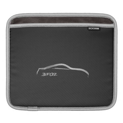 Nissan 350Z Silhouette Logo with Faux Carbon Fiber iPad Sleeve