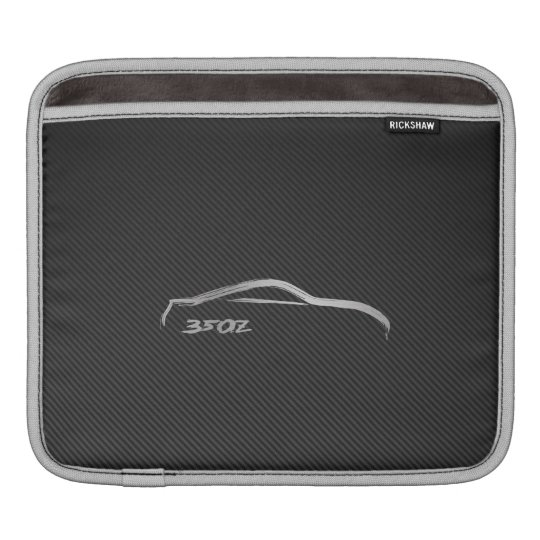 Nissan 350Z Silhouette Logo with Faux Carbon Fibre Sleeves For iPads