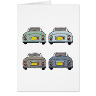 Nissan Figaro - 4 Seasons Greeting Cards