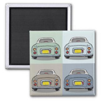 Nissan Figaro - 4 Seasons - Square Magnet