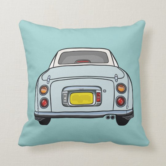 Nissan Figaro Blue cartoon car cushion pillow