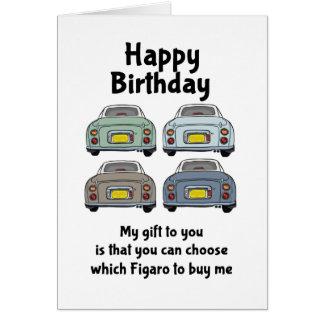 Nissan Figaro Cars Birthday Card