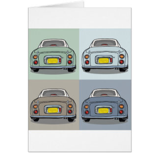 Nissan Figaro Cars Blank Greeting Card