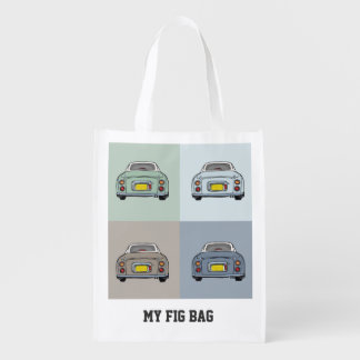 Nissan Figaro Cars Custom Tote Bag