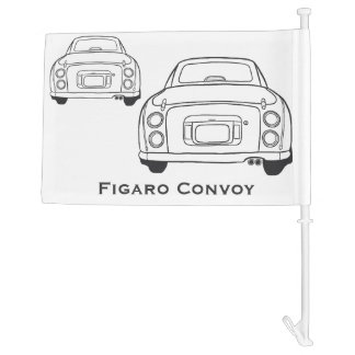 Nissan Figaro Convoy Custom Car Flag