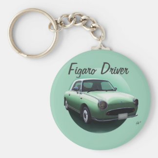 Nissan Figaro Driver Keyring - Emerald Green Keychains