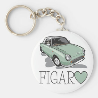 Nissan Figaro Emerald Green Basic Round Button Key Ring