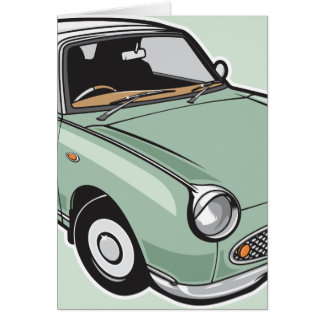 Nissan Figaro Emerald Green Card