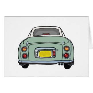 Nissan Figaro - Emerald Green - Greeting Card