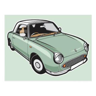 Nissan Figaro Emerald Green Postcard