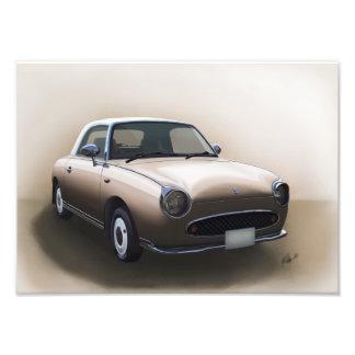 Nissan Figaro - Fine Art Print - Topaz Mist Photo Art