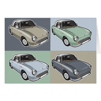 Nissan Figaro in four colors Card