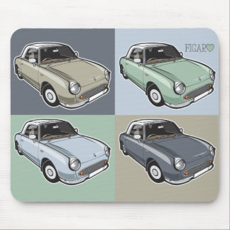 Nissan Figaro in four colors Mouse Pad