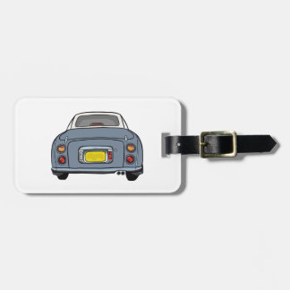 Nissan Figaro - Lapis Gray  Luggage Tag