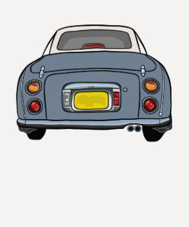 Nissan Figaro - Lapis Grey 3/4 length sleeve Tees