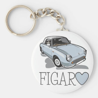 Nissan Figaro Pale Aqua Basic Round Button Key Ring
