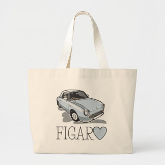 Nissan Figaro Pale Aqua Large Tote Bag