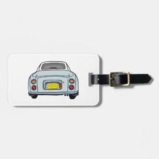 Nissan Figaro - Pale Aqua-  Luggage Tag