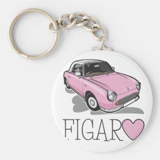 Nissan Figaro Pink Basic Round Button Key Ring