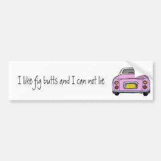 Nissan Figaro - Pink - Bumper Sticker