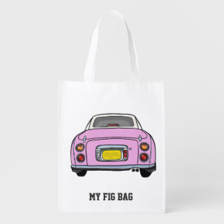 Nissan Figaro Special Pink Useful Grocery Bag