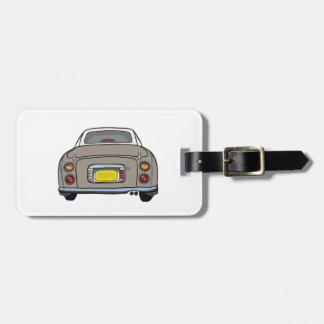 Nissan Figaro - Topaz Mist -  Luggage Tag