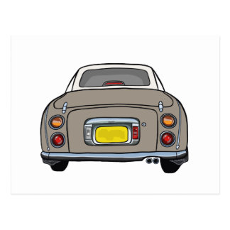 Nissan Figaro - Topaz Mist - Postcard