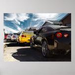 Nissan GT-R R35, R34, R33, R32, Hakosuka Skyline Poster